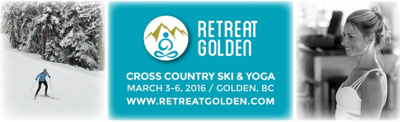 Retreat Golden Ski Banner