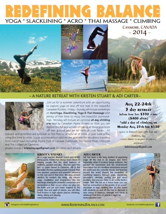 Redefining Balance Yoga Retreat - August 22-24th, 2014